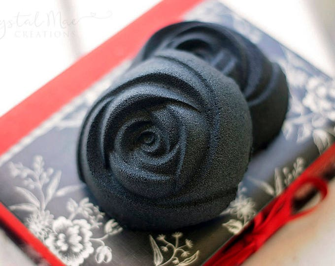 Black Rose Bath Bomb   Lavender, Chamomile, & Sweet Orange