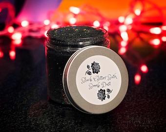 Black Bath Bomb Dust - Holographic Glitter