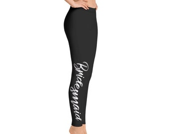 64779ee904829 Bridesmaid Leggings Womens Yoga Pants Bridal Party Gift