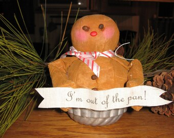 Molasses the gingerbread man shelf sitter