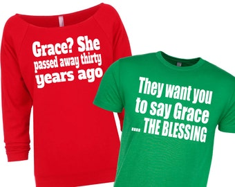 Matching Christmas Shirts Christmas Sweater Couples Etsy