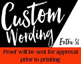 Custom Wording Add On