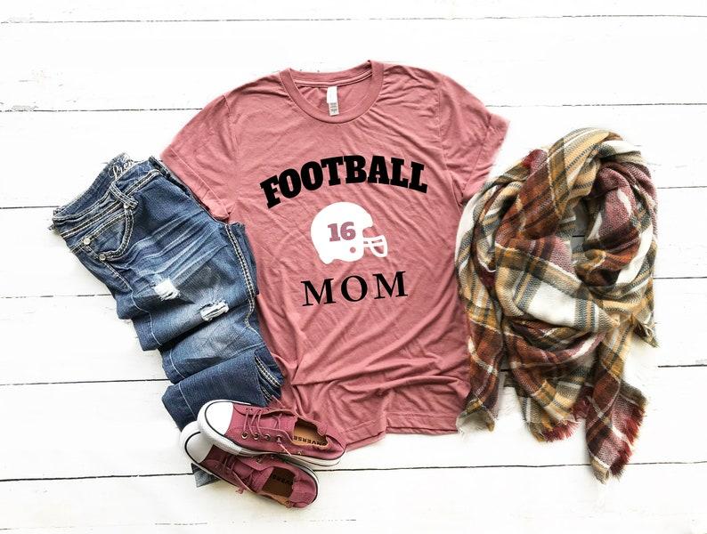 ef74bc4fc Football Mom Shirt. Custom Football Mom Shirt.Personalized | Etsy