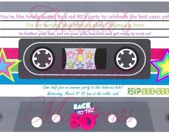 80's Cassette Tape Invitation