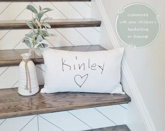 Handwriting Pillow Etsy