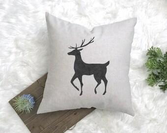 Rudolph Decor - Christmas Pillow - Deer Pillow - Woodland Theme - Christmas Decor - Farmhouse Pillow - Reindeer Pillow - Fixer Upper Style