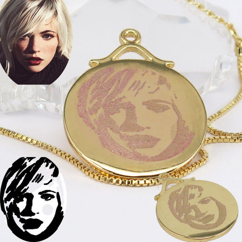Memorial Photo Necklace,Custom Picture Necklace,Personalized Photo Necklace,Portrait Necklace. Photo Necklace