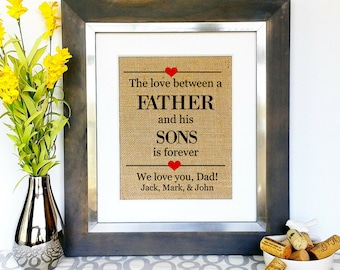 FATHERS DAY GIFT From Sons Children Kids For Dad Daddy Group Birthday Gift Special Gifts Father Unique Fathers Day Present