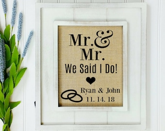 Personalized Wedding Gift Idea Gay Marriage Gift Ideas Same Etsy