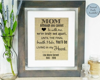 loss of mother memorial gift mom sympathy gift mother etsy