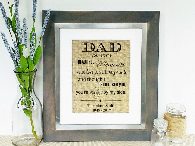 loss of father in memory of dad sympathy gifts death of etsy