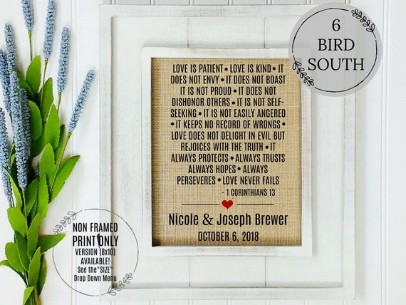 Wedding Gift Ideas Best Wedding Bible Verses Gift For Etsy