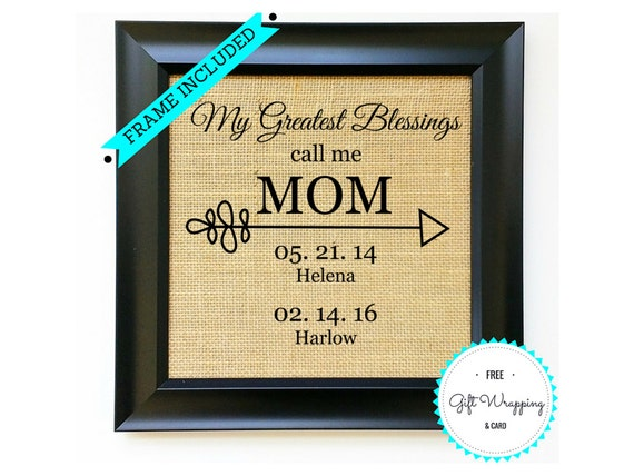 Frame Included Mothers Day Gift Ideas Mothers Day Gifts Etsy