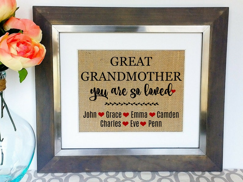 GREAT GRANDMOTHER Gifts For Great Grandma Gift