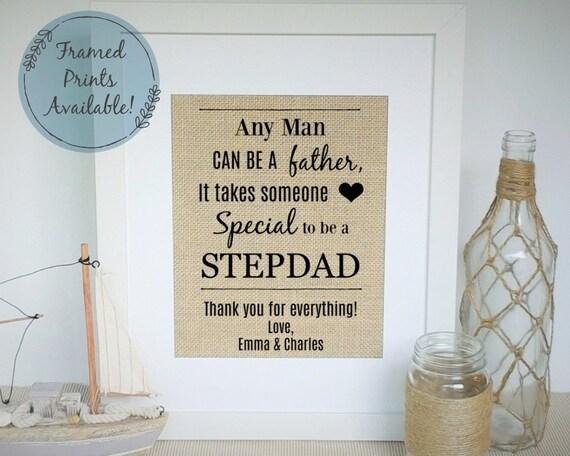 MUM /& STEPDAD on My Wedding Day laminated gift
