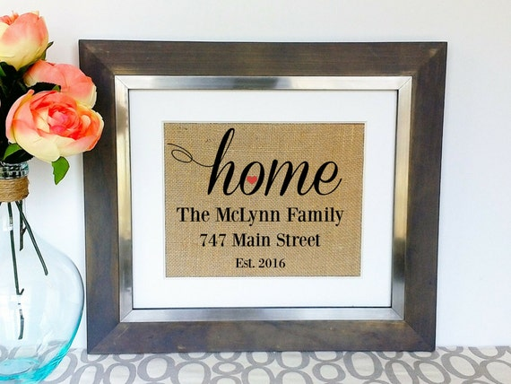 Personalized Housewarming Gift Best House Warming Gifts New Etsy