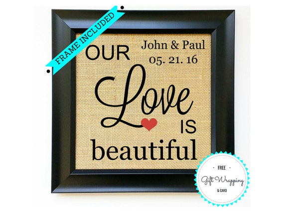 Frame Included Wedding Gift For Gay Couple Same Sex Couples Etsy