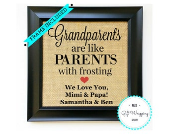 GIFT FOR GRANDPARENTS - Grandparents Day Gifts - Grand Parents Presents - Gift for Grandma or Grandpa - Gifts from Grandchildren - Grandkids