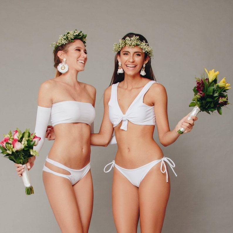 069bf52635 Bride Bikini Swimsuit Swimwear Bridal Style One Piece Retro   Etsy