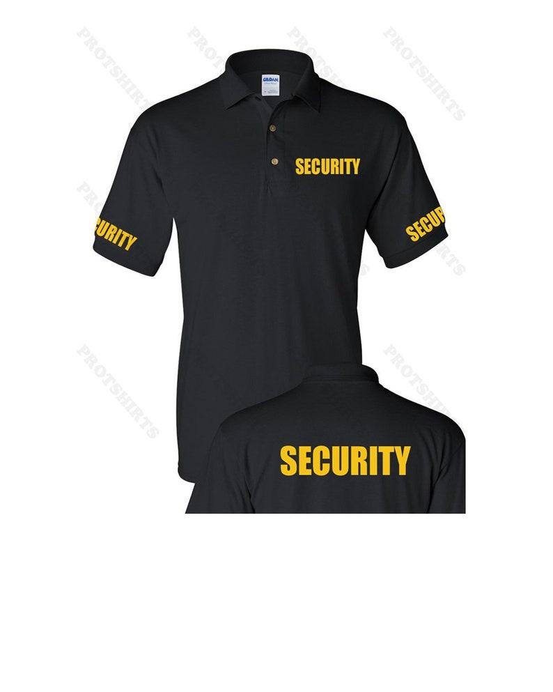 SECURITY Guard uniform men's polo shirt