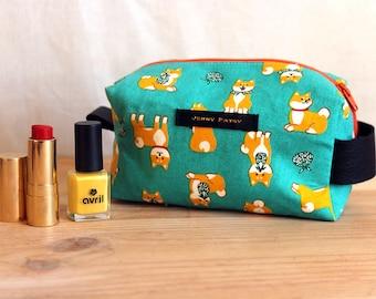 Toiletries dogs, Shiba Inu cats, Kawaii, peas, travel, makeup, gift, made in France, handmade