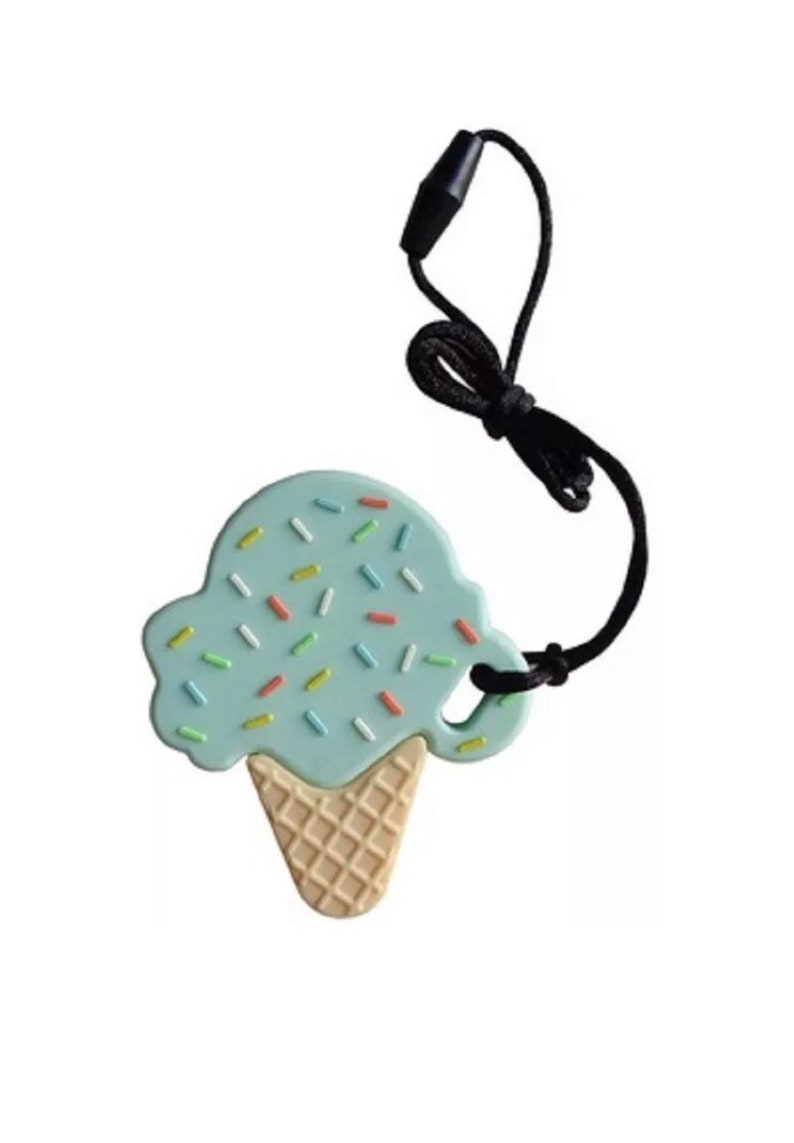 Baby Teether Ice Cream Silicone BPA Free Teething Toys Pendant Necklace Pacifier