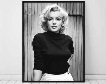 Marilyn Monroe White Dress Stretch Canvas Movie Poster Art Print 60s Model Icon