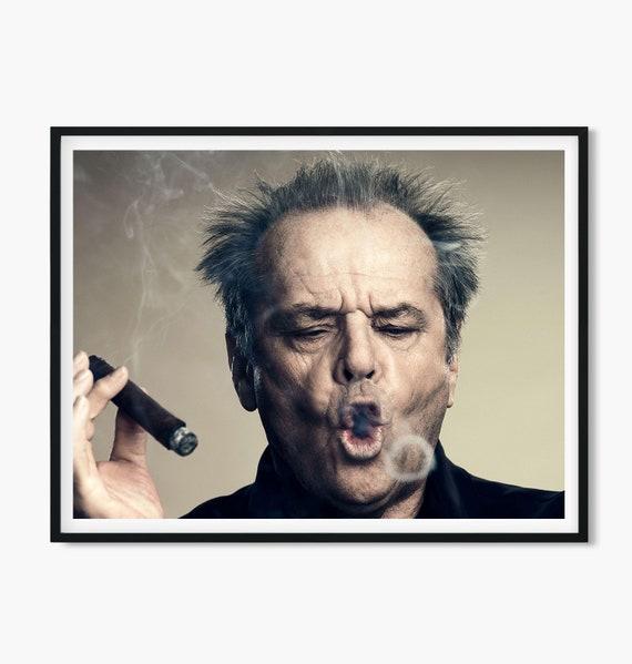 Poster Decor Wand Home Druckbare Jack • Nicholson Zigarre Wandkunst Kunst Moderne UpMVSzq