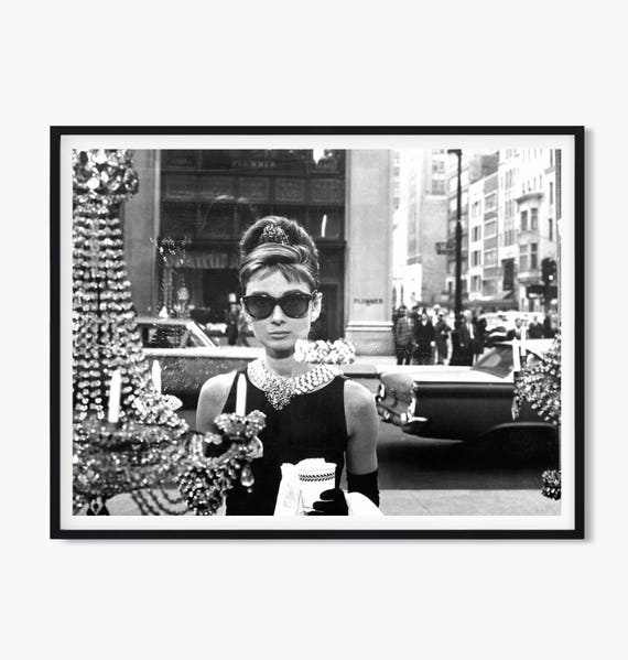 cd2069cc53 Breakfast at Tiffanys poster • Tiffany poster Audrey Hepburn print art Audrey  Hepburn poster Audrey Hepburn photo Audrey Hepburn photograph