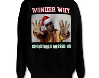 more colors unisex biggie smalls christmas jumper sweater by bentherules