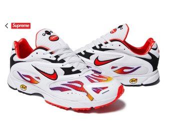 Supreme/Nike Air Streak Spectrum Plus White Trainers Size UK 9.5