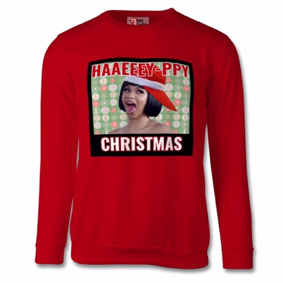 Unisex Cardi B Christmas Jumper Sweater By Bentherules Etsy