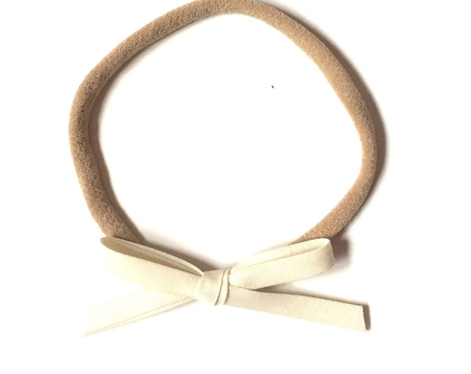 Mini Retro headband || Cream or White