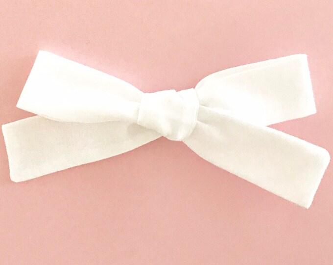 Sewn Retro clip || White