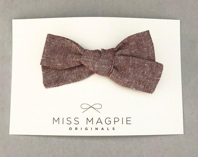Sloane bow || Linen