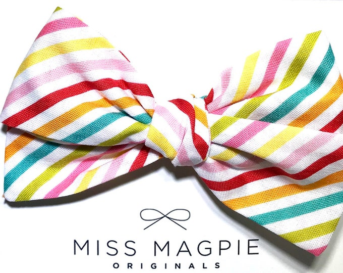 Oversized Sloane Clip || Candy stripe