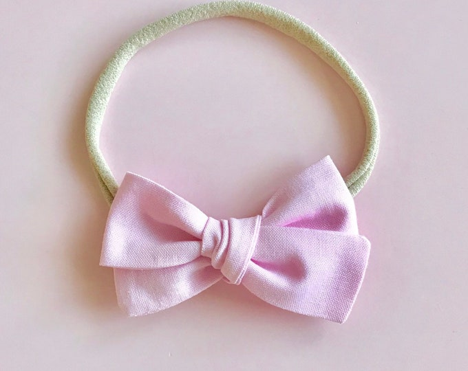 Mini Sloane Headband || Powder Pink