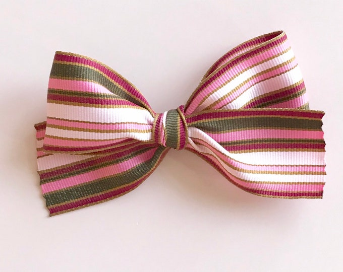 Oversized Ribbon bow || Stripe