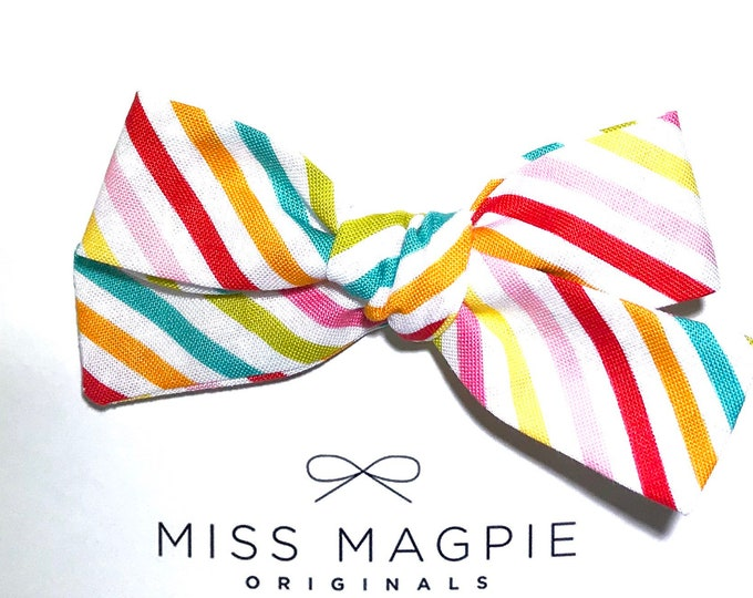 Regular Sloane Clip || Candy stripe