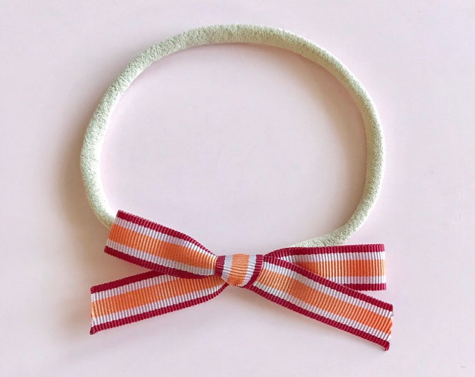 Ribbon headband || Mini Stripe