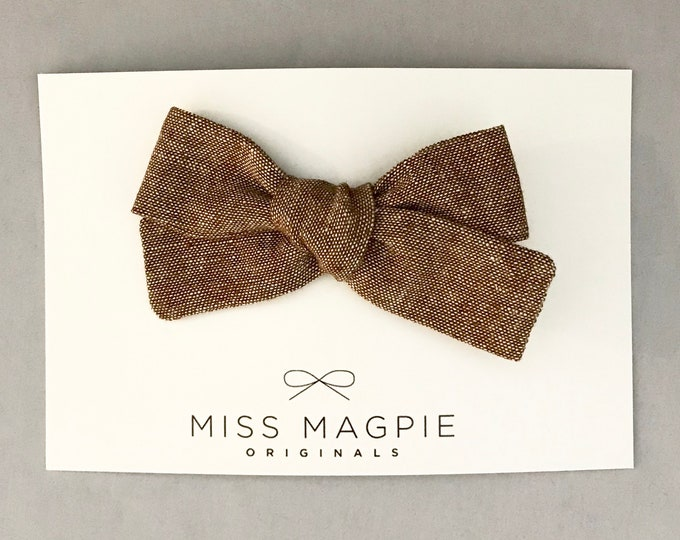 Sloane bow || Nutmeg Linen