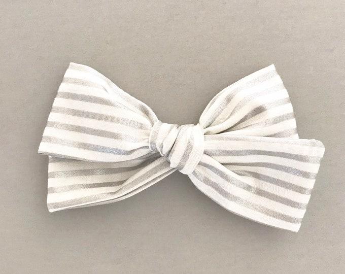 Oversized Sloane || silver stripe