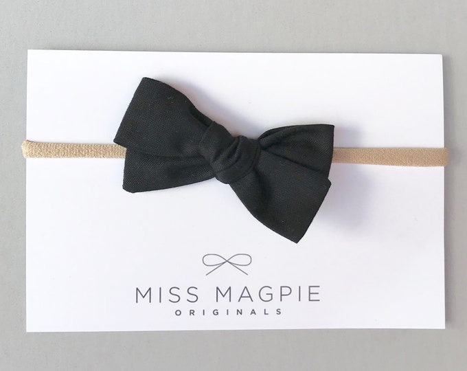 Mini Sloane Headband || Black