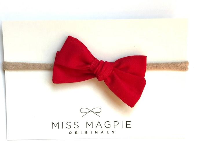 Sloane bow || Cherry