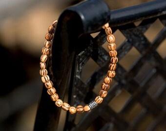 Palm Wood Bead Stretch Bracelet | Stretch Bracelet | Wood Bracelet | Beaded Bracelet | Palm Wood Bracelet | Wooden Bracelet