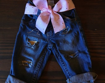 Custom ripped jeans