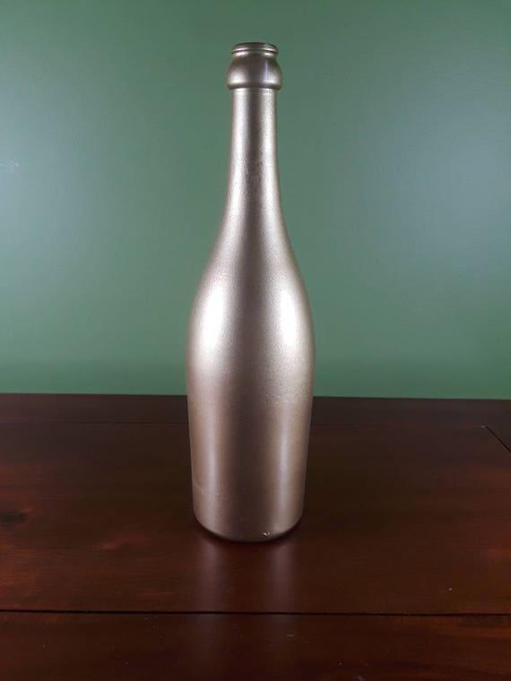 Metallic Gold Wine Bottle Centerpiece Wine Bottle Centerpiece Upcycled Wine Bottle Wedding Centerpiece Decorative Wine Bottle