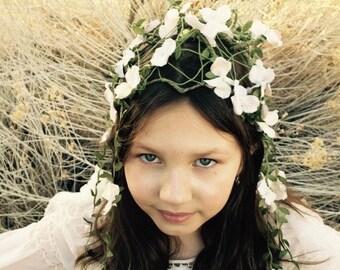 Hydrangea Head Dress / Flower Crown