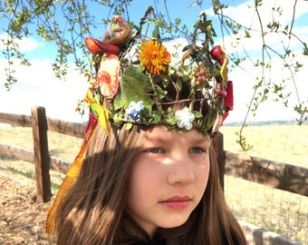 Earthly Garden Crown / Garland / Wreath