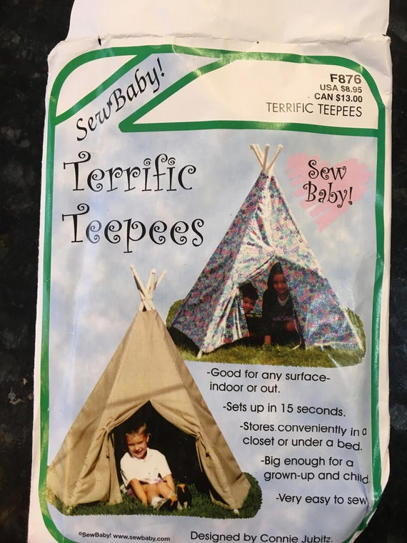 Teepee Pattern Sew Baby Terrific Teepees F876 Easy to sew